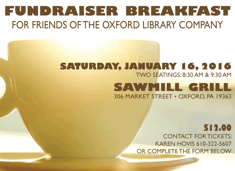 Fundraiser Breakfast Saturday, January 16 Sawmill Grill. Photo by Kristina Alexanderson on Flickr CC https://creativecommons.org/licenses/by/2.0/legalcode